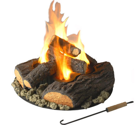Outdoor Fire with Logs by Real Flame - 4 Cans