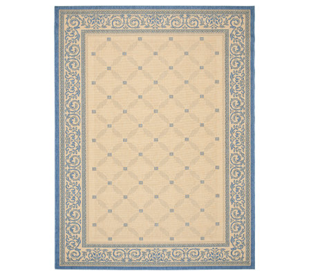 "Safavieh Courtyard Lattice Flower 7' 10"" x 11'Rug"