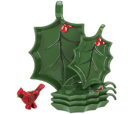 Temp-tations Figural Cardinal 5-pc Appetizer Set
