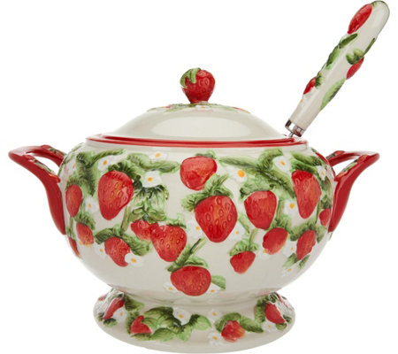 Temp-tations Figural Fruit Soup Tureen with Ladle