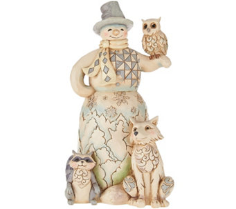 Jim Shore Heartwood Creek Woodland Snowman Figurine - H209202
