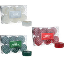 HomeWorx by Harry Slatkin Set of 36 Scented Holiday Tealights - H211402