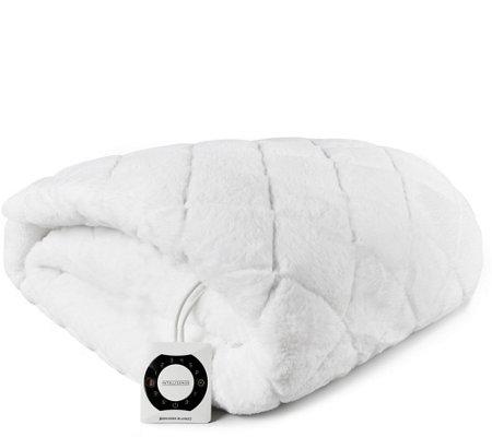 berkshire grace fur heated twin mattress pad