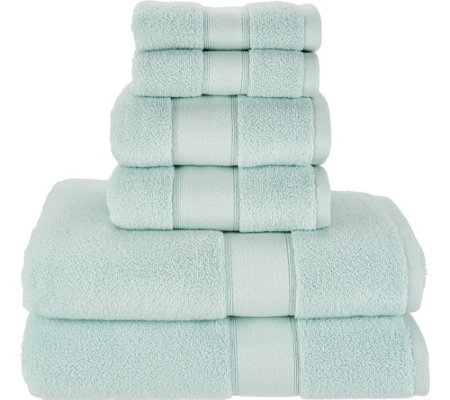 """As Is"" Casa Zeta-Jones 6pc. Cotton Rayon Bamboo Towel Set"