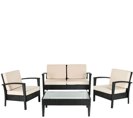 Safavieh Piscataway 4-Piece Outdoor Set