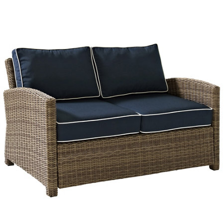 Crosley Outdoor Wicker Love Seat - Bradenton Collection
