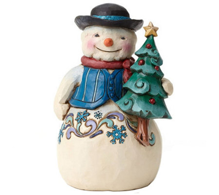 Jim Shore Winter Wonderland Snowman with Tree