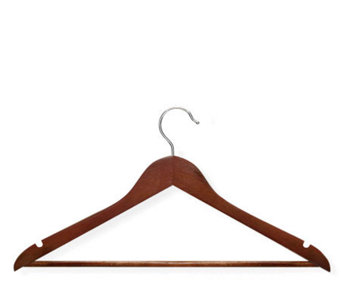 Honey-Can-Do 24-pack Cherry-finish Wood Suit Hangers - H356602