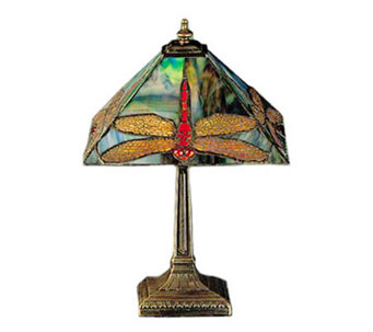 "Tiffany Style 15-1/2""H Dragonfly Lamp - H108603"