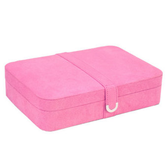 Mele & Co Pink Sueded Jewelry Box with24 Sections - H160103