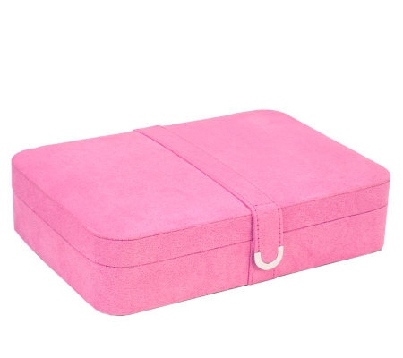 Mele & Co Pink Sueded Jewelry Box with 24 Sections