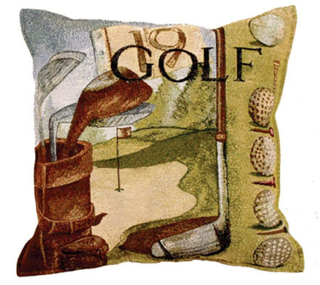 Vintage-Style Golf Pillow by Simply Home