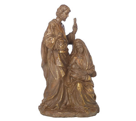 Gold Leaf Holy Family Figurine by Valerie