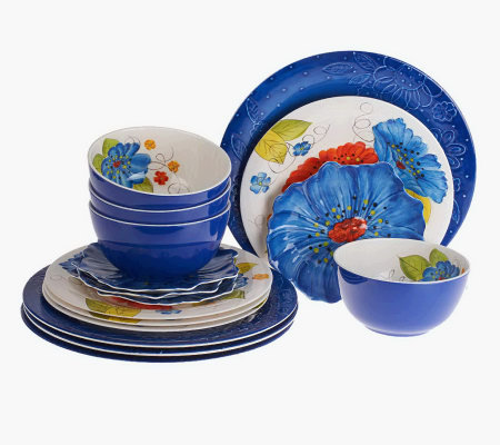 Laurie Gates Forget Me Nots 16-Piece Outdoor Dinnerware Set & Laurie Gates Forget Me Nots 16-Piece Outdoor Dinnerware Set - Page 1 ...
