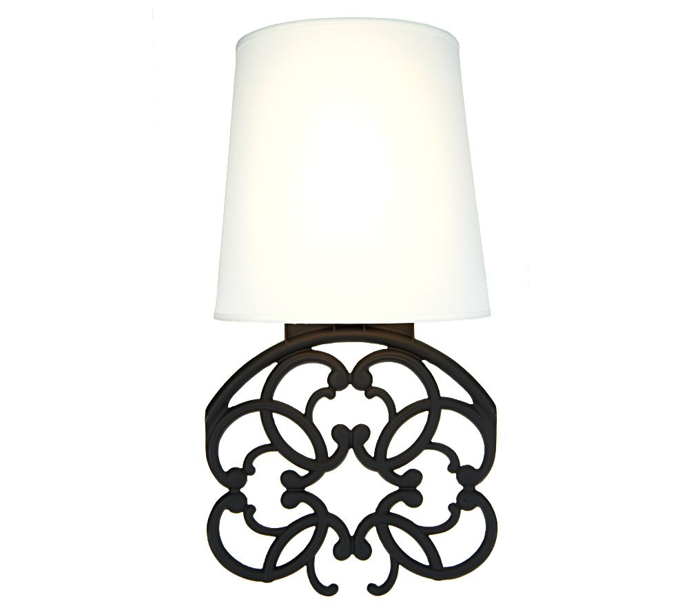 Battery Operated Wall Sconces Qvc : Home Reflections Scrollwork Wall Sconce - Page 1 QVC.com