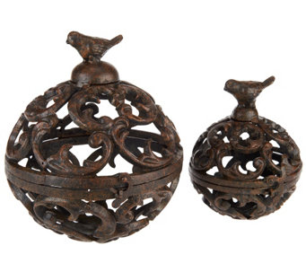 ED On Air Wrought Iron Spheres w/ Bird Accent by Ellen DeGeneres - H204903