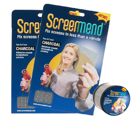 ScreenMend Set of 2 Screen Repair Patch & Roll by Lori Greiner