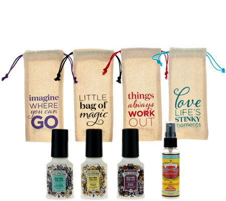 Poo-Pourri Set of 4 2 oz. Bathroom Deodorizers in Gift Bags