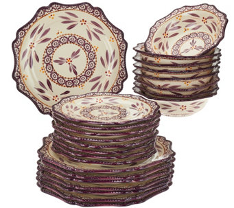 Temp-tations Old World 24-piece Dinnerware Service for 8 - H210903