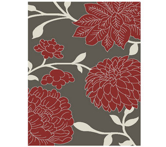 "Safavieh Floral 4' x 5'7"" Indoor/Outdoor Rug - H283103"