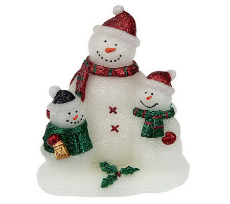 Home Reflections Snowman Family Flameless Candle & Timer