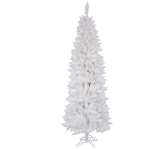 6' Prelit Sparkle White Pencil Tree by Vickerman - H286703