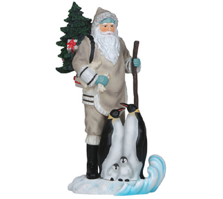 Limited Edition Santa with Penguins Figurine byPipka