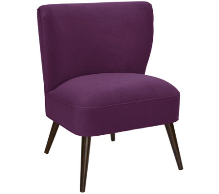 Skyline Furniture Velvet Armless Chair