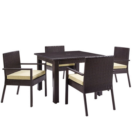 Palm Harbor Outdoor Wicker 5-Piece Dining Set