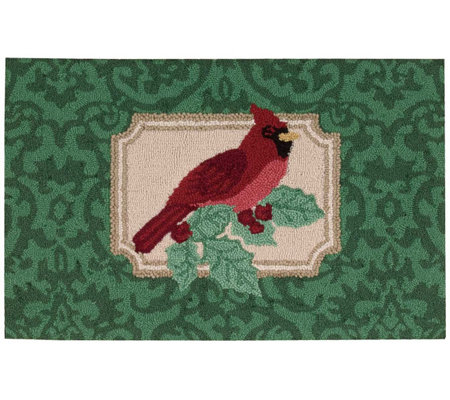 "Waverly 21"" x 33"" Christmas Cardinal Rug by Nourison"