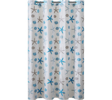 Hookless Printed Shower Curtain - Seashell