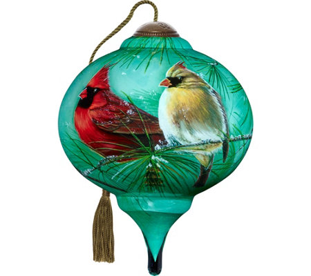 "3.00"" Cardinals and White Pine Ornament by Ne'Qwa"