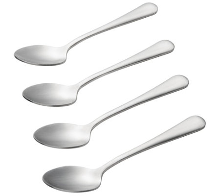 BonJour Stainless Steel 4-Piece Demitasse SpoonSet