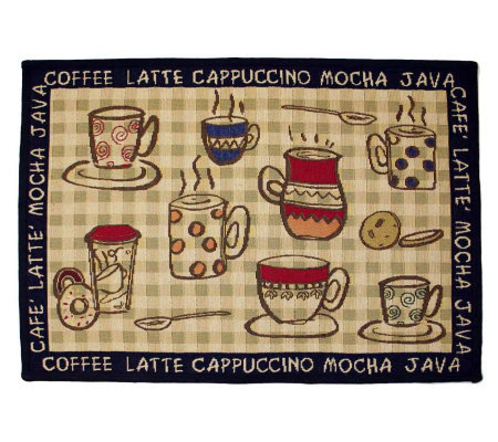 Rustic Cafe 19x27 Tapestry Rug