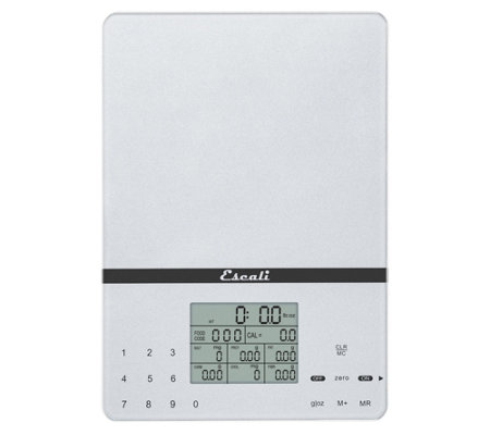 Escali Cesto Portable Digital Nutritional Scale