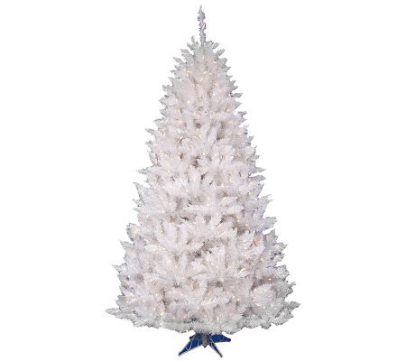 6-1/2' White Sparkle Spruce w/ Dura-Lit Lightsby Vickerman
