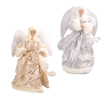 Musical Fiber Optic 16&quot Tabletop Angel with Moving Wings