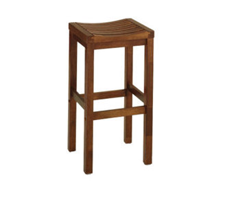 Home Styles Oak Finish Solid Wood Bar Stool - H136604