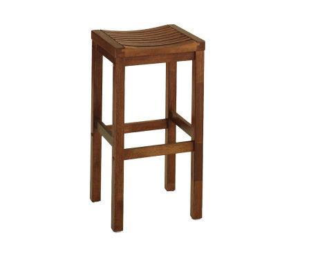 Home Styles Oak Finish Solid Wood Bar Stool