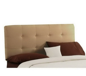 Skyline Furniture Ultrasuede Button-Tufted CalKing Headboard - H179204