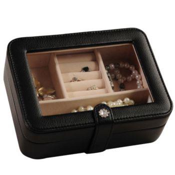 Mele & Co. Rio Faux Leather Black Jewelry Box