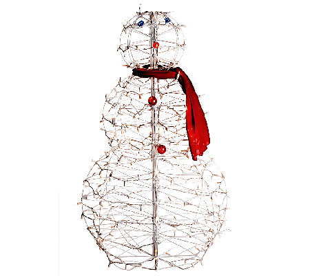 """As Is"" 4' Fold-Flat Outdoor Snowman by Lori Greiner"