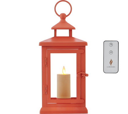 "Luminara 11"" Hudson Lantern with Flameless Votive Candle and Remote"