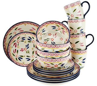 """As Is"" Temp-tations Old World 16-pc Dinnerware Set - H210604"