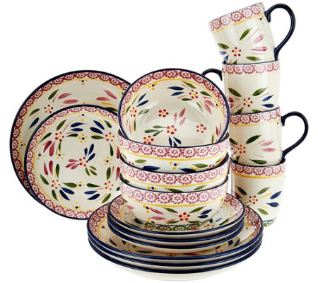 """As Is"" Temp-tations Old World 16-pc Dinnerware Set"