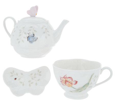 Lenox Butterfly Meadow 3-piece Tea Set