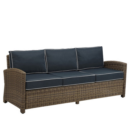 Crosley Outdoor Wicker Sofa - Bradenton Collection
