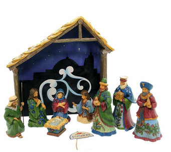 Jim Shore Heartwood Nativity 8-Piece Set - H290204