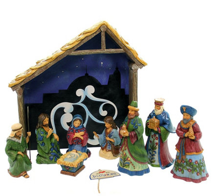 Jim Shore Heartwood Nativity 8-Piece Set