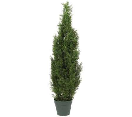 4' Cedar Tree Silk Tree by Nearly Natural